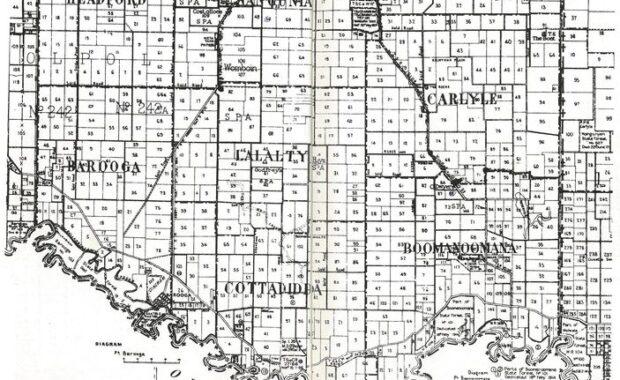 Map of Lalalty and Nangunia Region 1900s