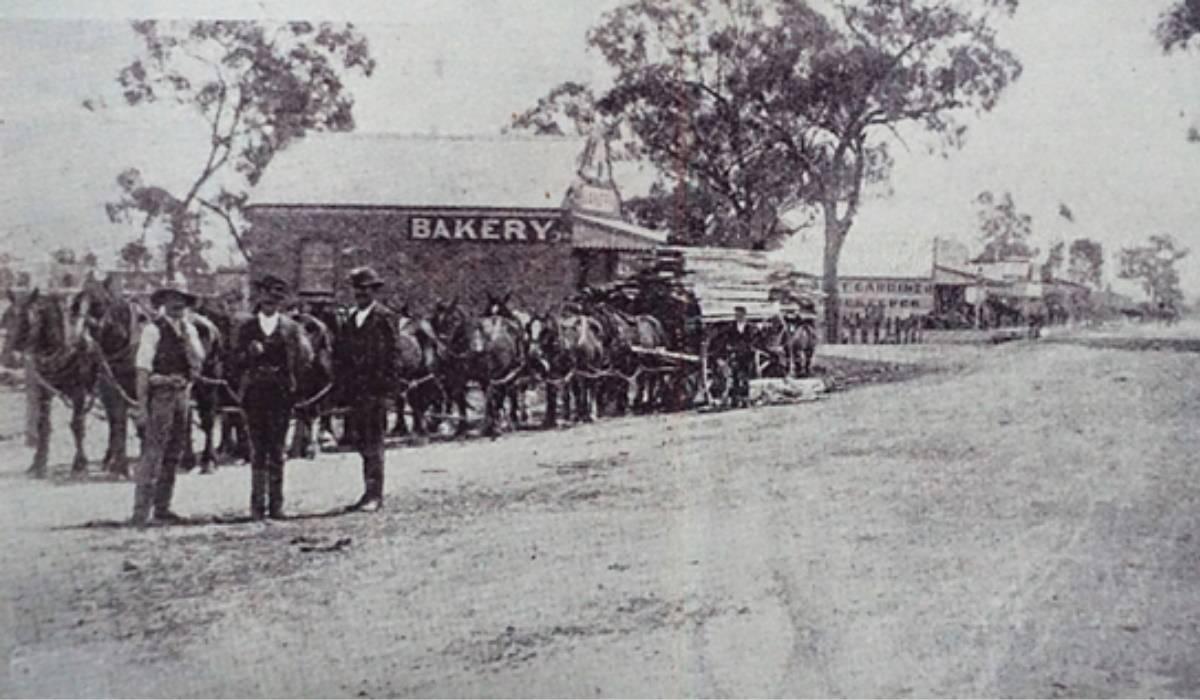 1896 view of Chanter Street Berrigan looking West